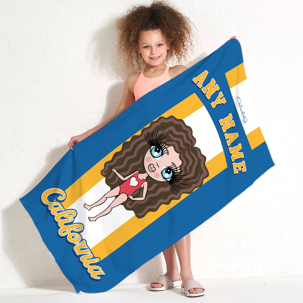 ClaireaBella Girls California Beach Towel - Image 3