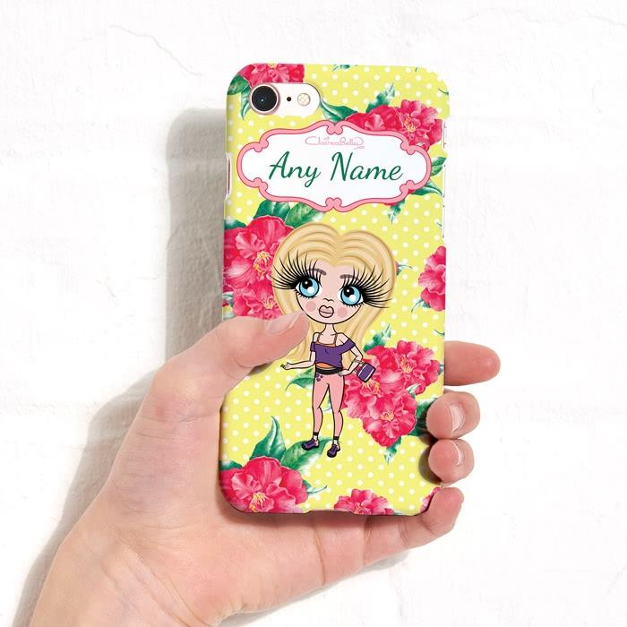 ClaireaBella Girls Personalized Lemon Floral Phone Case - Image 1