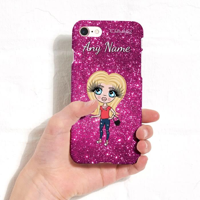 ClaireaBella Girls Personalized Glitter Effect Phone Case - Image 1
