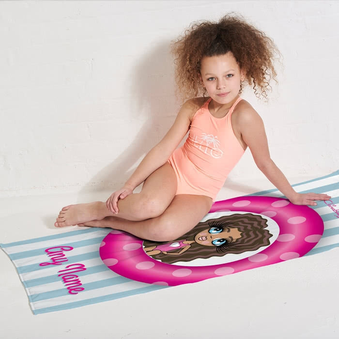 ClaireaBella Girls Pool Party Beach Towel - Image 3