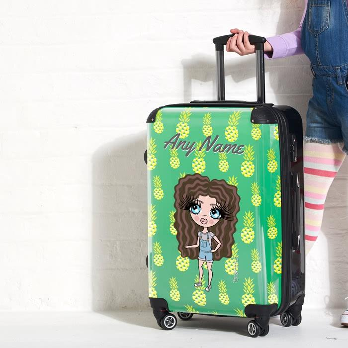 ClaireaBella Girls Pineapple Print Suitcase - Image 2