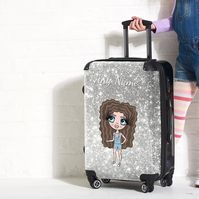 ClaireaBella Girls Glitter Effect Suitcase - Image 4