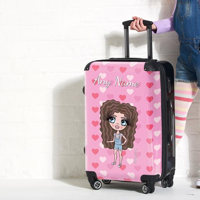 ClaireaBella Girls Heart Suitcase - Image 3