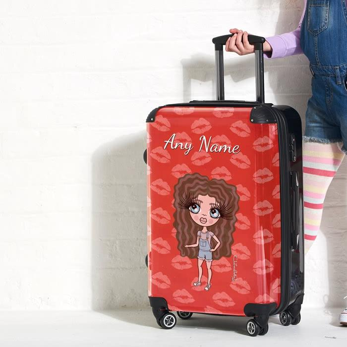 ClaireaBella Girls Lip Print Suitcase - Image 3