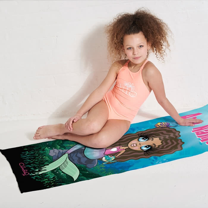 ClaireaBella Girls Mermaid Beach Towel - Image 7