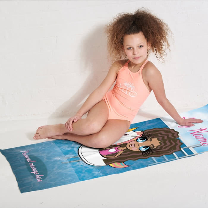 ClaireaBella Girls Unicorn Float Beach Towel - Image 7