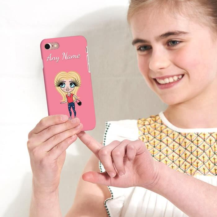ClaireaBella Girls Personalized Pink Phone Case - Image 2