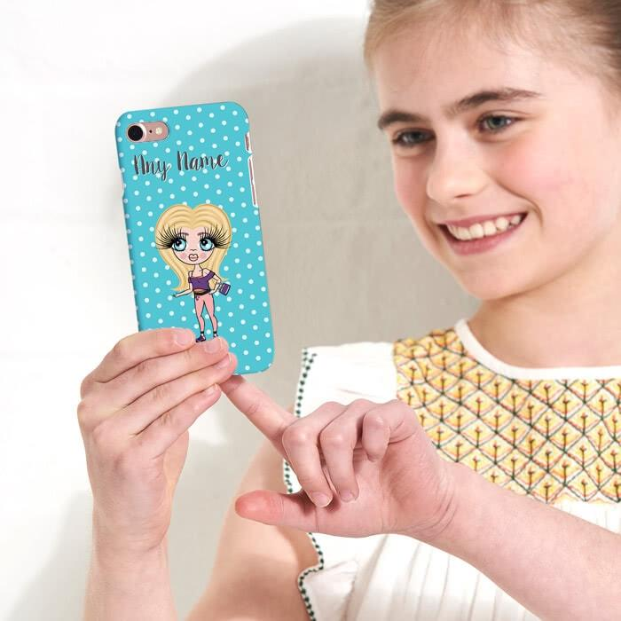 ClaireaBella Girls Personalized Polka Dot Phone Case - Image 3