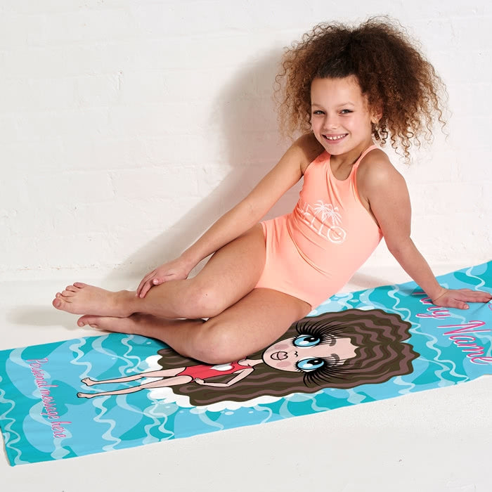 ClaireaBella Girls Pool Beach Towel - Image 5