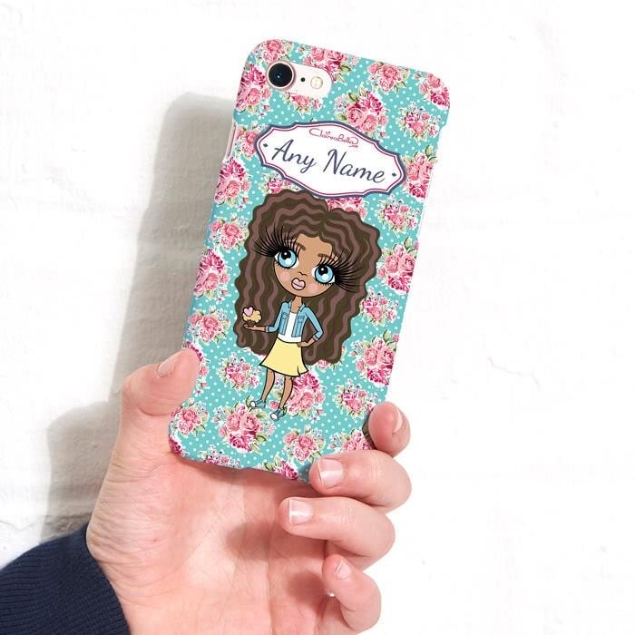 ClaireaBella Girls Personalized Rose Phone Case - Image 3