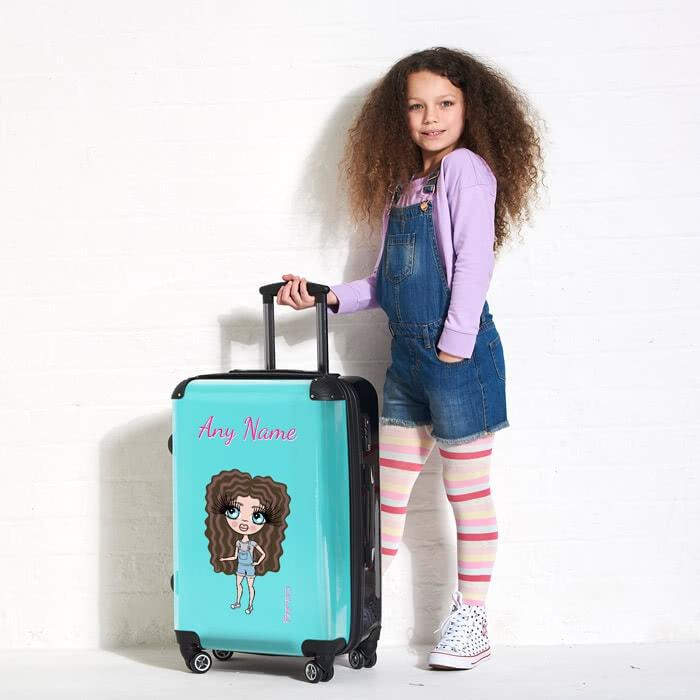 ClaireaBella Girls Turquoise Suitcase - Image 3
