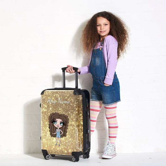 ClaireaBella Girls Glitter Effect Suitcase - Image 0