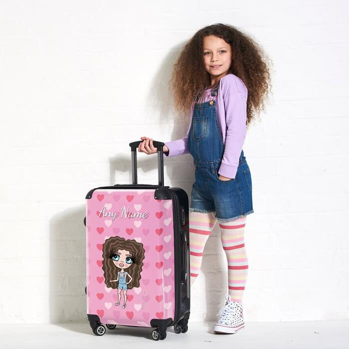 ClaireaBella Girls Heart Suitcase - Image 1