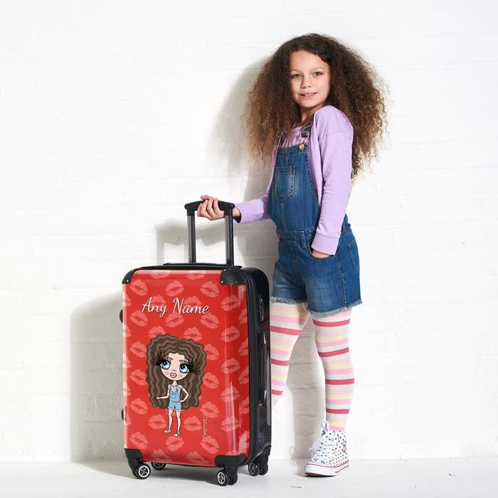 ClaireaBella Girls Lip Print Suitcase - Image 5