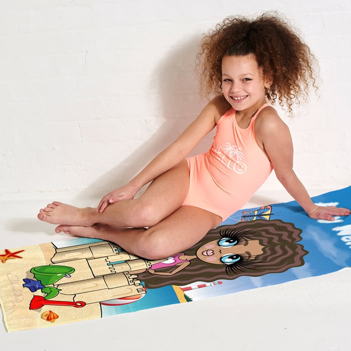 ClaireaBella Girls Sandcastle Fun Beach Towel - Image 7