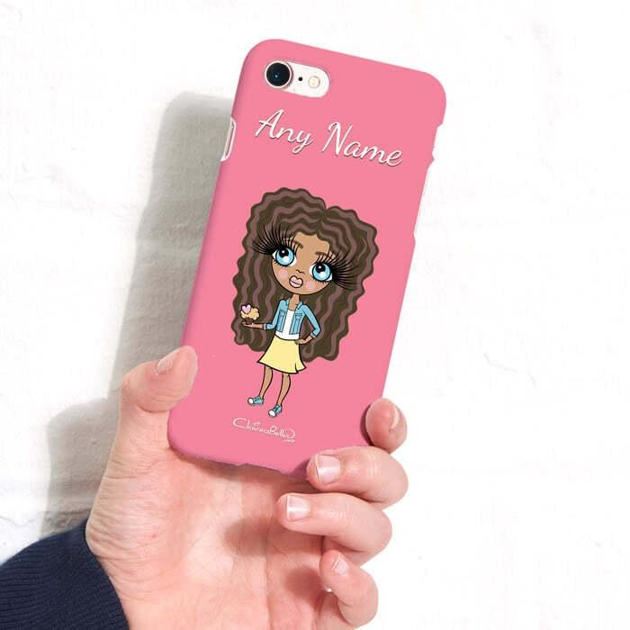 ClaireaBella Girls Personalized Pink Phone Case - Image 1