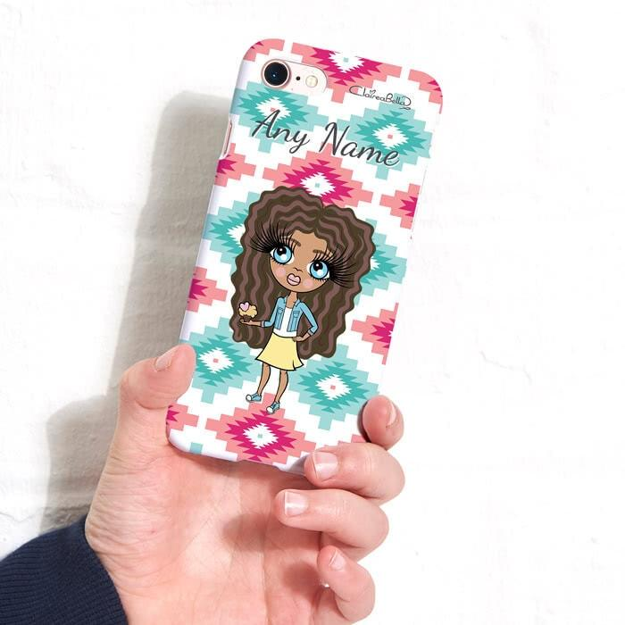 ClaireaBella Girls Personalized Aztec Geo Phone Case - Image 1