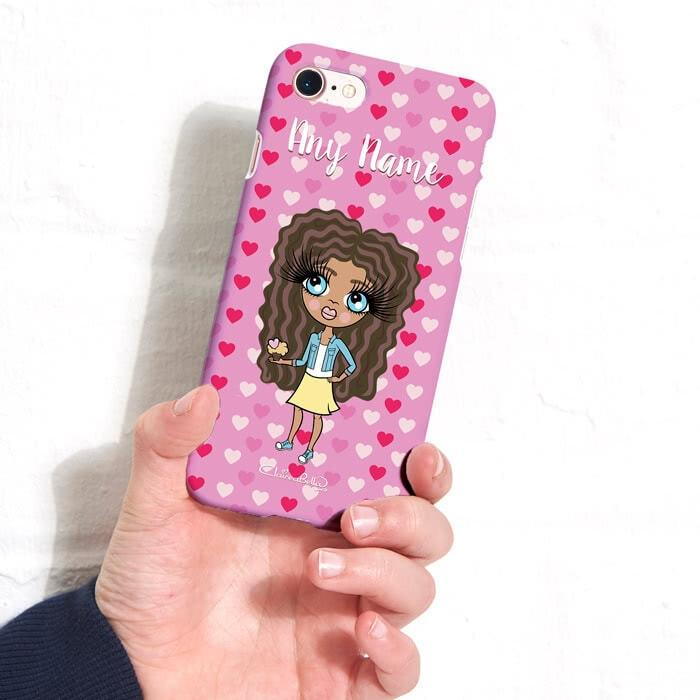 ClaireaBella Girls Personalized Hearts Phone Case - Image 4