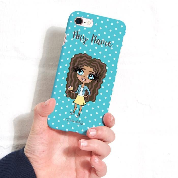 ClaireaBella Girls Personalized Polka Dot Phone Case - Image 2