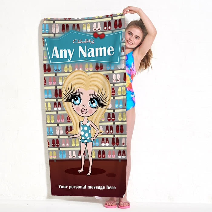 ClaireaBella Girls Shoe Heaven Beach Towel - Image 7