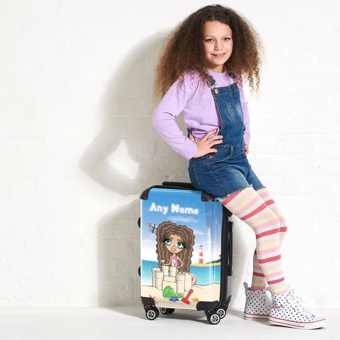 ClaireaBella Girls Sandcastle Fun Suitcase - Image 1
