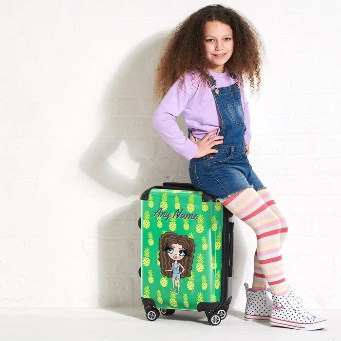 ClaireaBella Girls Pineapple Print Suitcase - Image 4