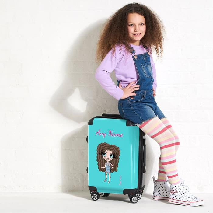 ClaireaBella Girls Turquoise Suitcase - Image 5