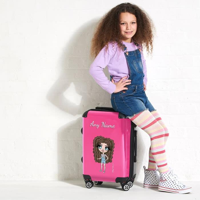ClaireaBella Girls Hot Pink Suitcase - Image 0