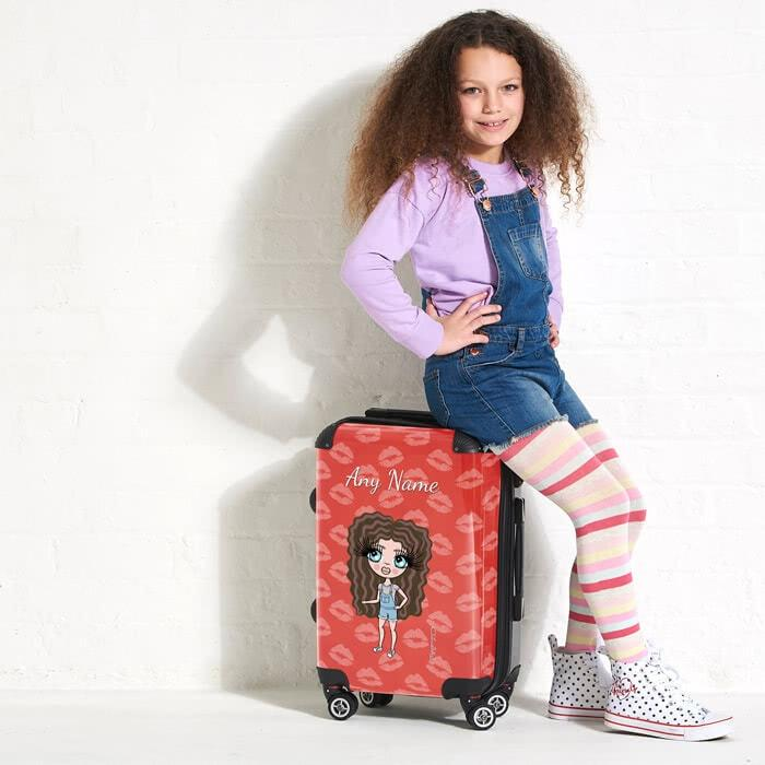 ClaireaBella Girls Lip Print Suitcase - Image 1