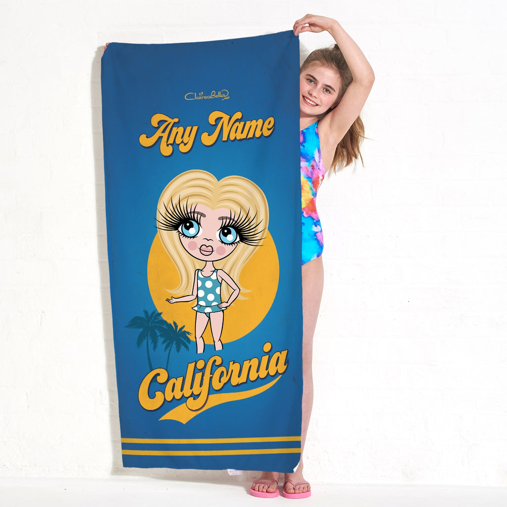 ClaireaBella Girls California Palms Beach Towel - Image 2