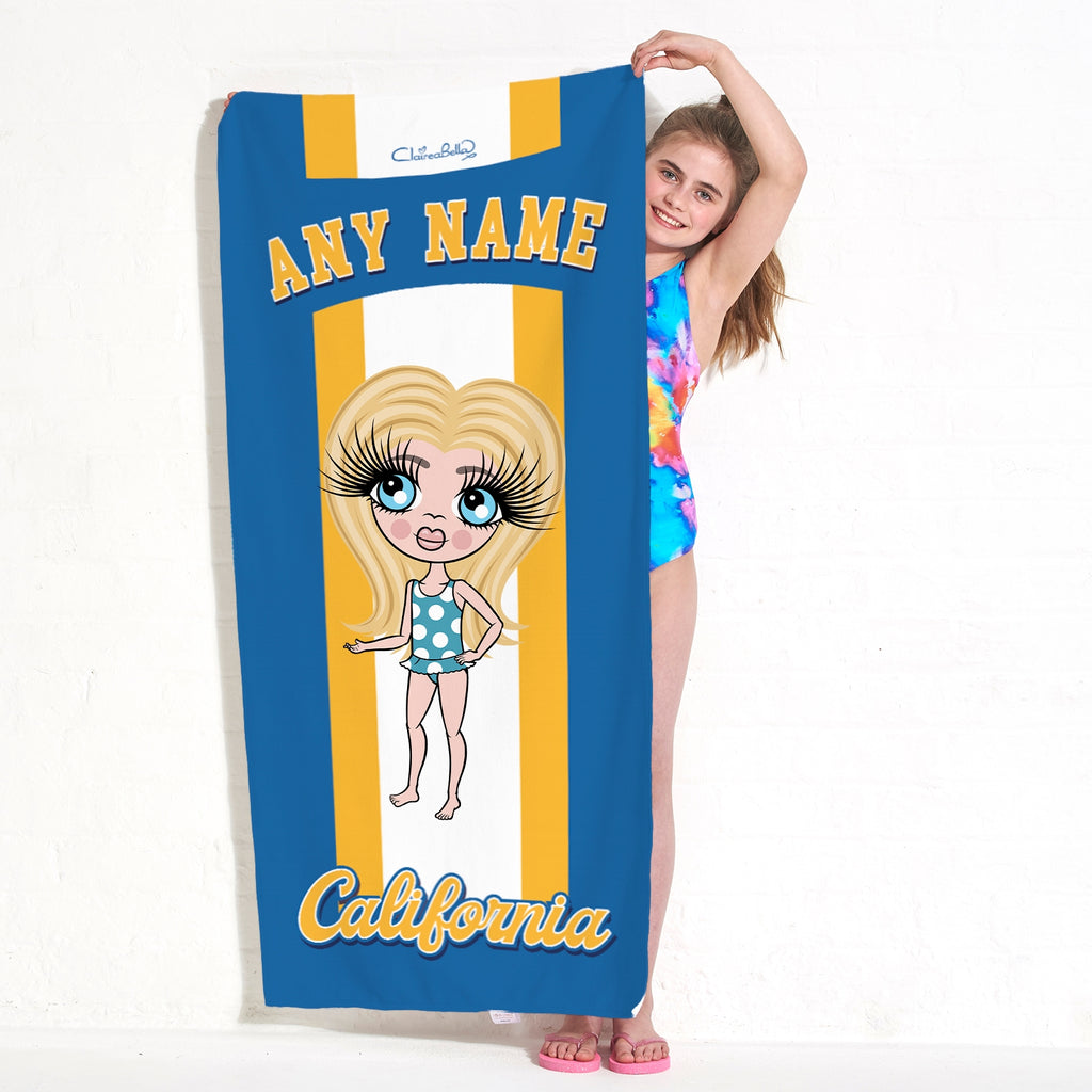 ClaireaBella Girls California Beach Towel - Image 1