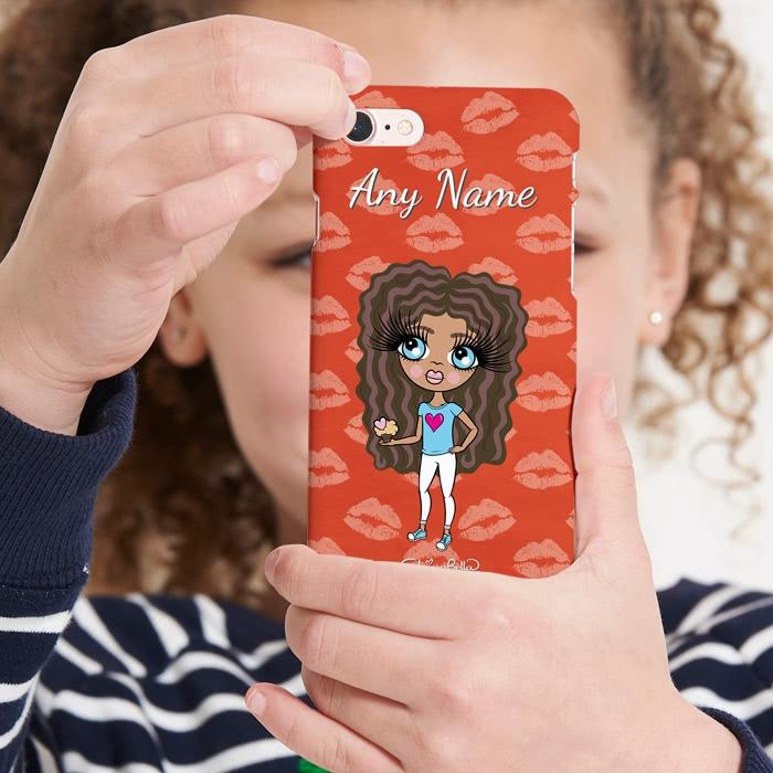ClaireaBella Girls Personalized Lip Print Phone Case - Image 4