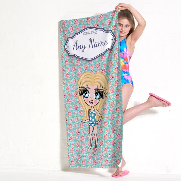 ClaireaBella Girls Rose Beach Towel - Image 7
