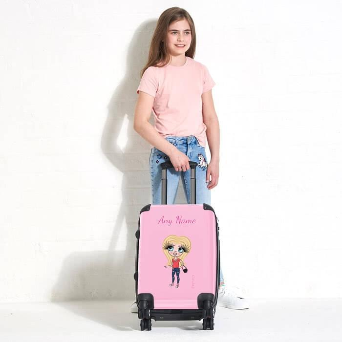 ClaireaBella Girls Pastel Pink Suitcase - Image 0