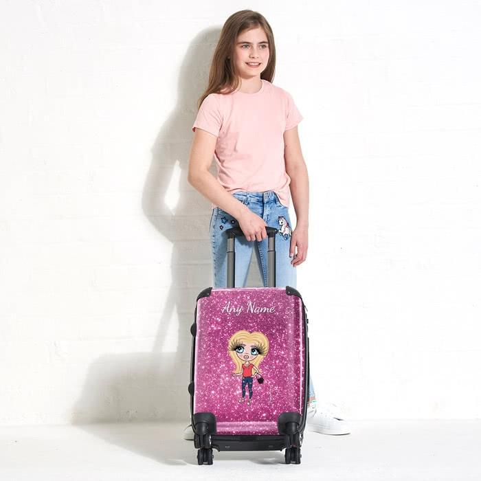 ClaireaBella Girls Glitter Effect Suitcase - Image 5