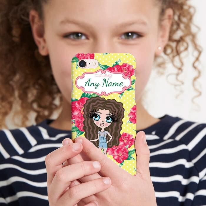 ClaireaBella Girls Personalized Lemon Floral Phone Case - Image 4