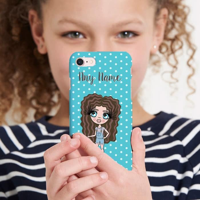 ClaireaBella Girls Personalized Polka Dot Phone Case - Image 4