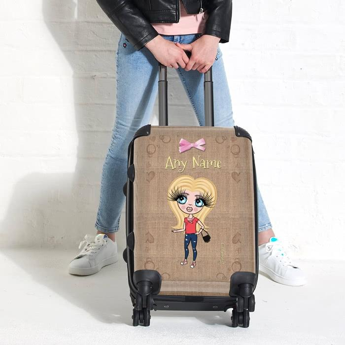 ClaireaBella Girls Jute Print Suitcase - Image 1