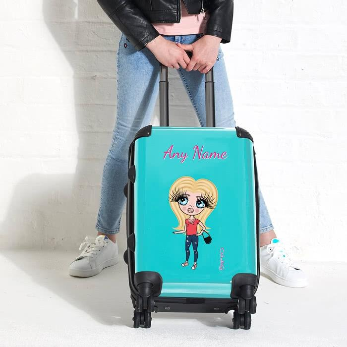 ClaireaBella Girls Turquoise Suitcase - Image 2