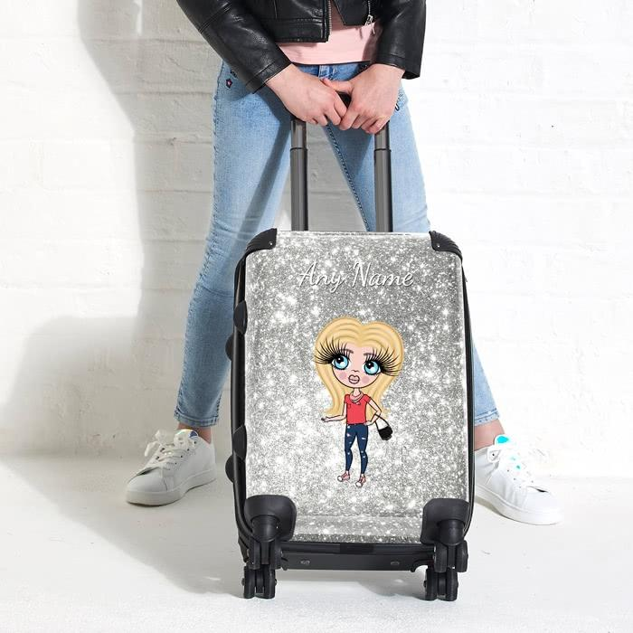 ClaireaBella Girls Glitter Effect Suitcase - Image 6