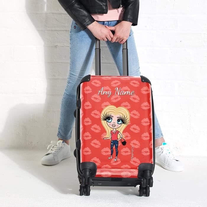 ClaireaBella Girls Lip Print Suitcase - Image 0