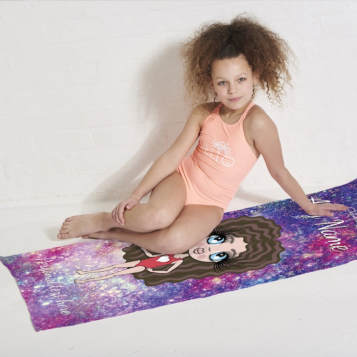 ClaireaBella Girls Galaxy Sparkle Beach Towel - Image 3