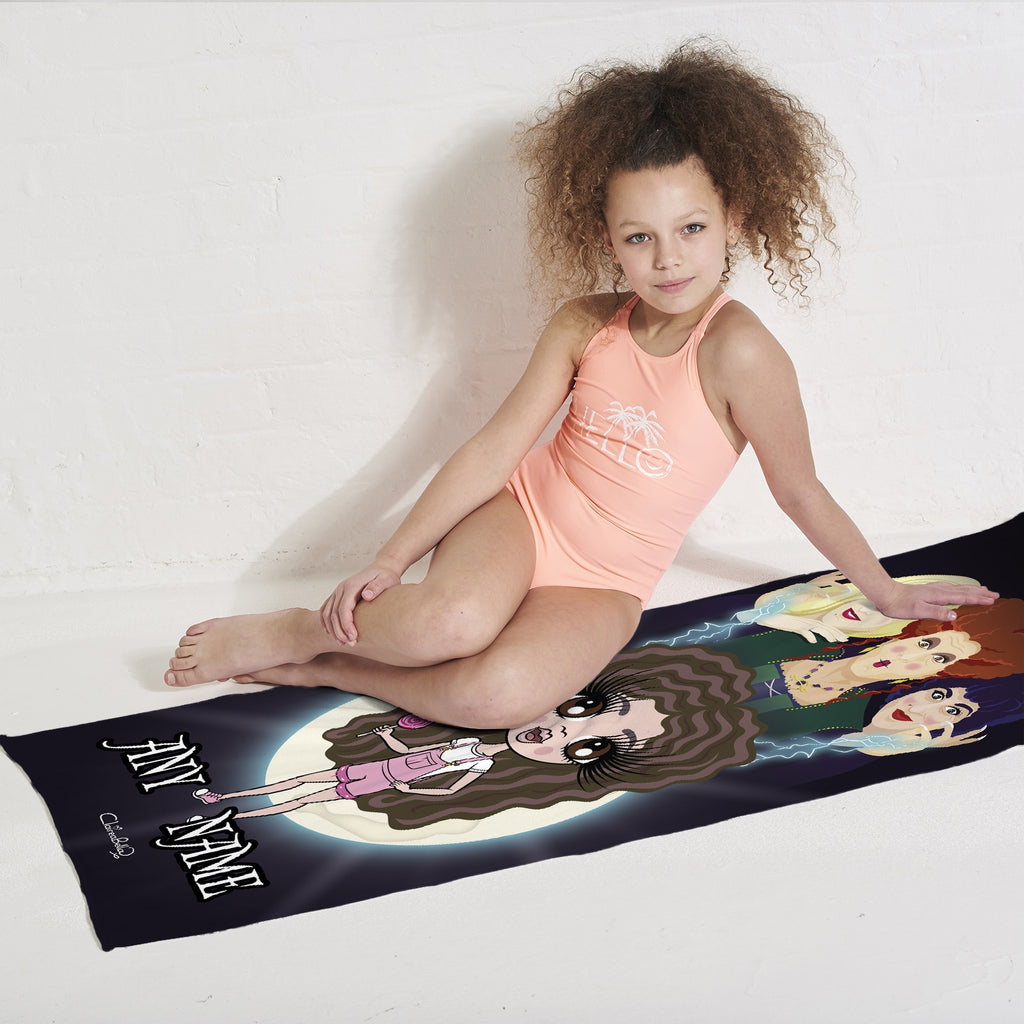 ClaireaBella Girls Mischievous Witches Beach Towel - Image 4