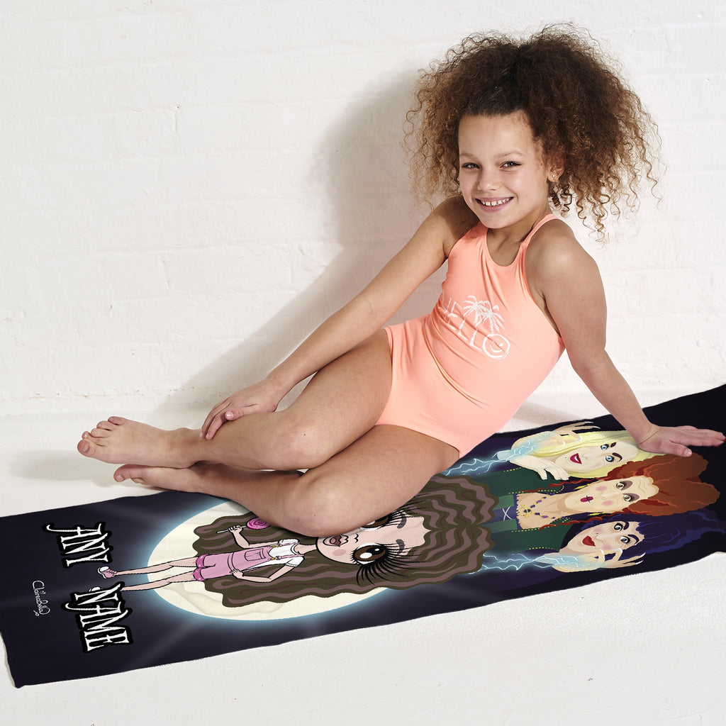 ClaireaBella Girls Mischievous Witches Beach Towel - Image 5