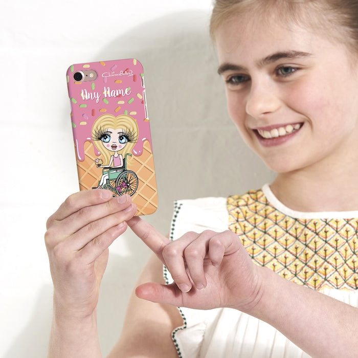 ClaireaBella Girls Wheelchair Personalized Ice Lolly Phone Case - Image 3