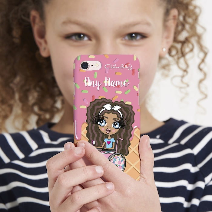 ClaireaBella Girls Wheelchair Personalized Ice Lolly Phone Case - Image 2
