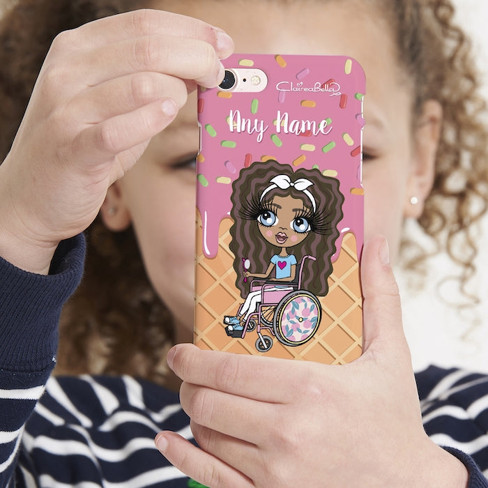 ClaireaBella Girls Wheelchair Personalized Ice Lolly Phone Case - Image 4