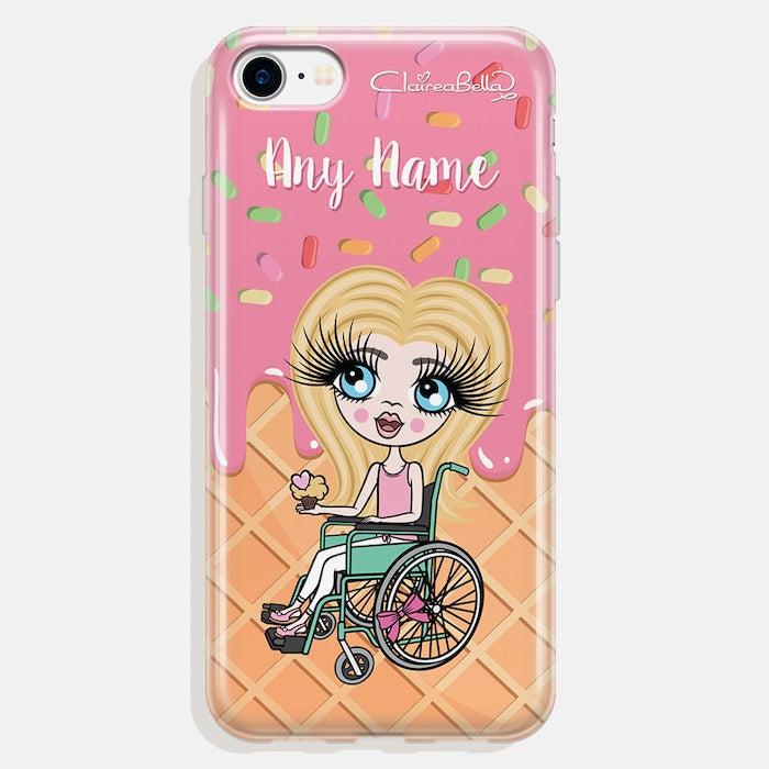 ClaireaBella Girls Wheelchair Personalized Ice Lolly Phone Case - Image 1