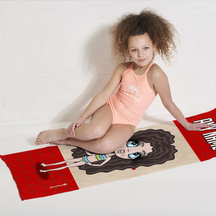 ClaireaBella Girls Love Canada Flag Beach Towel - Image 5
