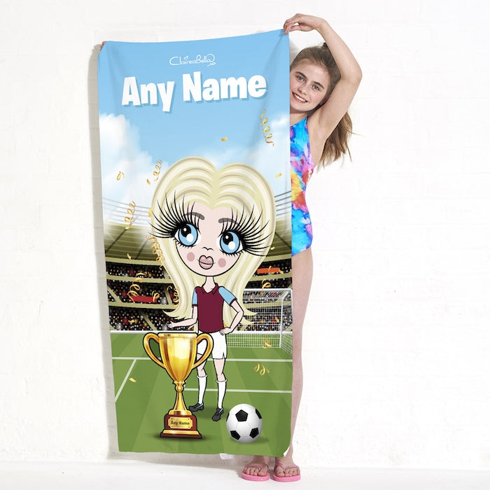 ClaireaBella Girls Football Champ Beach Towel - Image 4